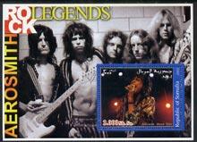 Somalia 2002 Rock Legends - Aerosmith perf s/sheet unmounted mint