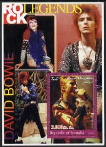 Somalia 2002 Rock Legends - David Bowie perf s/sheet unmounted mint