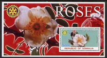 Somalia 2002 Roses #1 perf s/sheet (with Rotary Logo) fine unmounted mint