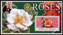 Somalia 2002 Roses #2 perf s/sheet (with Rotary Logo) fine unmounted mint