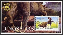 Somalia 2002 Dinosaurs perf s/sheet #3 (with Rotary Logo) fine unmounted mint