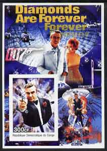 Congo 2003 James Bond Movies #07 - Diamonds Are Forever imperf s/sheet unmounted mint