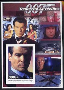 Congo 2003 James Bond Movies #18 - Tomorrow Never Dies imperf s/sheet unmounted mint