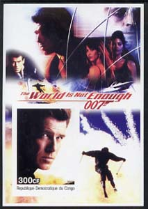 Congo 2003 James Bond Movies #19 - The World Is Not Enough imperf s/sheet unmounted mint