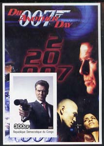 Congo 2003 James Bond Movies #20 - Die Another Day imperf s/sheet unmounted mint