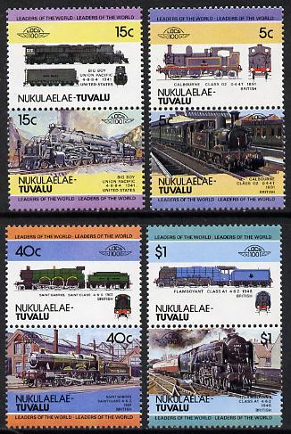 Tuvalu - Nukulaelae 1984 Locomotives #1 (Leaders of the World) set of 8 unmounted mint