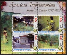 Guinea - Conakry 2003 American Impressionists - Thomas W Dewing perf sheetlet containing set of 4 values each with Rotary Logo unmounted mint