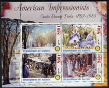 Guinea - Conakry 2003 American Impressionists - Custis Eleanor Parke perf sheetlet containing set of 4 values each with Rotary Logo unmounted mint