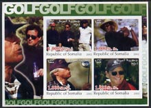 Somalia 2002 Golf #1 imperf sheetlet containing set of 4 values unmounted mint