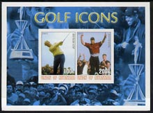 Myanmar 2001 Golf Icons (Jack Nicklaus & Tiger Woods) imperf sheetlet containing 2 values unmounted mint
