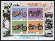 Rwanda 2001 Motorcycles #2 imperf sheetlet containing 4 values unmounted mint