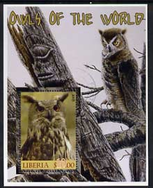Liberia 2005 Owls of the World #01 perf m/sheet fine cto used