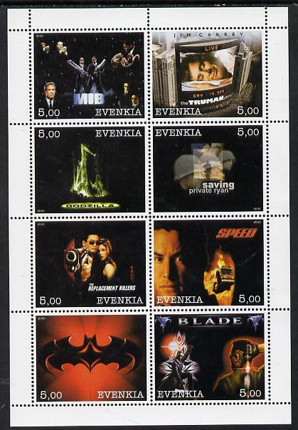 Evenkia Republic 2000 Action Movies perf sheetlet containing 8 values unmounted mint