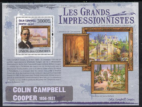 Comoro Islands 2009 The Impressionists - Colin Campbell Cooper perf souvenir sheet unmounted mint