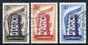 Luxembourg 1956 Europa set of 3 very fine used, SG 609-11 cat \A337+