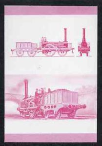Bernera 1983 Locomotives #2 (Dublin & Kingstown Railway) 30p se-tenant imperf proof pair in magenta only, unmounted mint