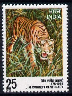 India 1975 Jim Corbett Centenary (Tiger) unmounted mint SG 799