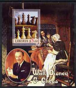 Liberia 2005 Walt Disney & Chess #2 perf s/sheet unmounted mint