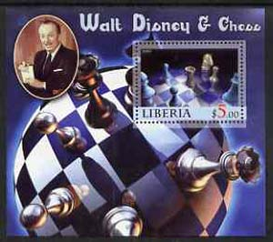 Liberia 2005 Walt Disney & Chess #3 perf s/sheet unmounted mint