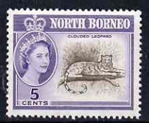 North Borneo 1961 Clouded Leopard 5c (from def set) unmounted mint, SG 393