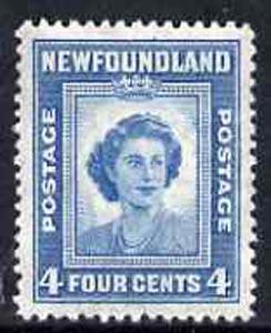 Newfoundland 1947 Queen Elizabeth when Princess 4c unmounted mint, SG 293*
