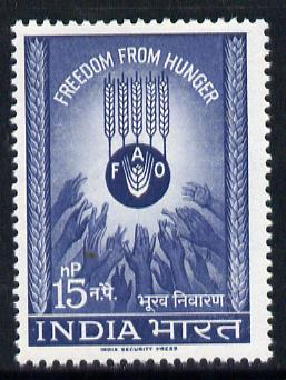 India 1963 Freedom From Hunger unmounted mint, SG 466*