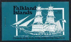 Booklet - Falkland Islands 1978 Mailships \A31 booklet (blue-green cover showing Hebe & Darwin) complete and pristine, SG SB2