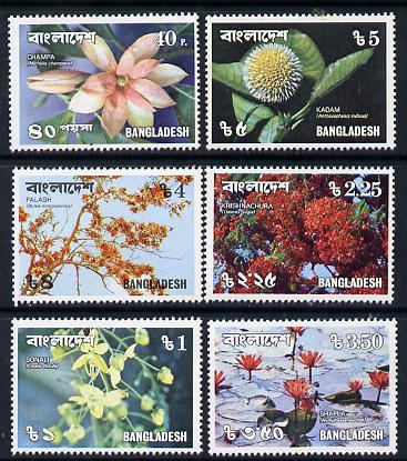 Bangladesh 1978 Flowers set of 6 unmounted mint, SG 110-15
