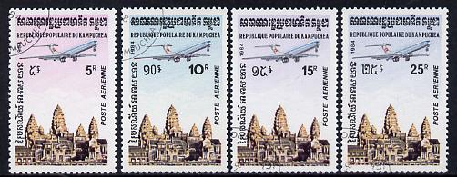 Kampuchea 1984 Air set of 4 fine used (SG 504-7)
