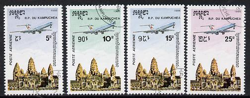 Kampuchea 1986 Air set of 4 fine used (SG 695-98)