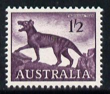 Australia 1962 Tasmanian Tiger 1s2d (SG 321) unmounted mint*, stamps on cats