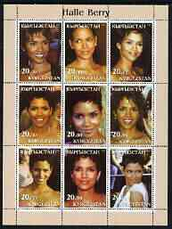 Kyrgyzstan 2003 Halle Berry perf sheetlet containing 9 values unmounted mint
