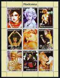 Kyrgyzstan 2003 Madonna perf sheetlet containing 9 values unmounted mint