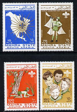Aden - Mahra 1967 Scouts perf set of 4 unmounted mint, Mi 12-15A