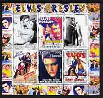 Benin 2003 Elvis Presley Film Posters perf sheetlet containing 6 values unmounted mint