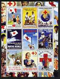 Benin 2003 Red Cross perf sheet containing 9 values unmounted mint