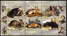 Benin 2003 Animals of America by John James Audubon perf sheetlet containing 6 values unmounted mint