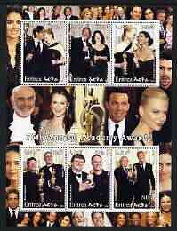 Eritrea 2003 75th Annual Academy Awards perf sheetlet containing 6 values unmounted mint (shows C Zeta-Jones, N Kidman, etc)