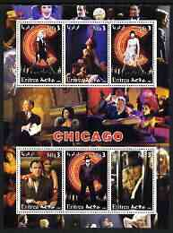 Eritrea 2003 Scenes from 'Chicago' perf sheetlet containing 6 values unmounted mint