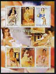 Eritrea 2003 Pin-up Art by Fritz Willis perf sheetlet containing 6 values unmounted mint