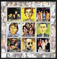 Mauritania 2003 The Beatles perf sheetlet containing 9 values unmounted mint
