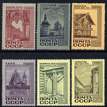Russia 1968 Soviet Architecture set of 6 unmounted mint,  SG 3647-52, Mi 3586-91*