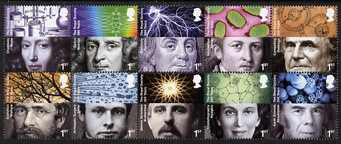 Great Britain 2010 - 350 Years of Royal Society perf set of 10 in se-tenant block unmounted mint