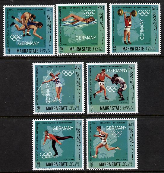 Aden - Mahra 1968 German Olympic Gold Medal Winners perf set of 7 unmounted mint (Mi 99-105A)