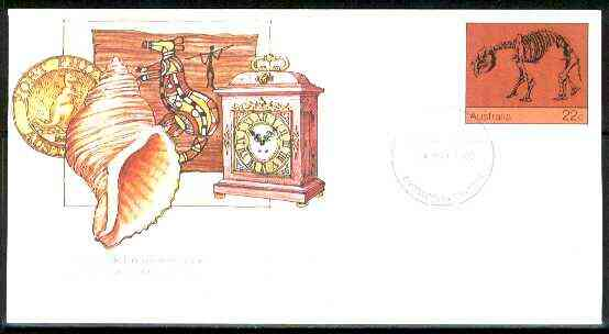 Australia 1980 International Museum Day 22c postal stationery envelope with first day cancellation