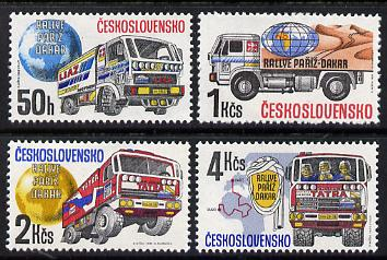 Czechoslovakia 1989 Paris-Dakar Rally set of 4 unmounted mint, SG 2959-62, Mi 2984-87*