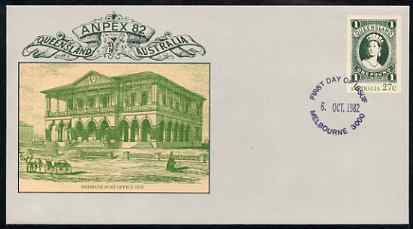 Australia 1982 Anpex 82 Stamp Exhibition 27c postal stationery envelope with first day cancellation