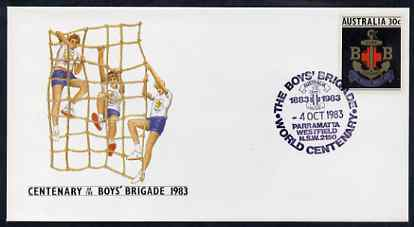 Australia 1983 Centenary of Boys Brigade 30c postal stationery envelope with special Parramatta first day cancellation