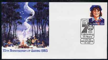 Australia 1985 75th Anniversary of Guiding 33c postal stationery envelope with special illustrated first day cancellation