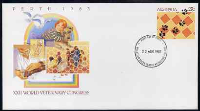Australia 1983 World Vetenary Congress 27c postal stationery envelope with first day cancellation